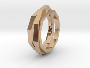 faceted ring in 14k Rose Gold Plated Brass