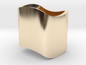 Ambiguous Cylinder Illusion in 14K Yellow Gold