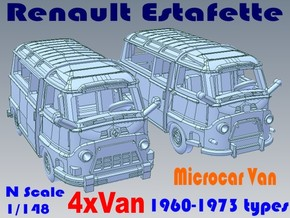 1-148 R-Estafette Microcar SET in White Natural Versatile Plastic