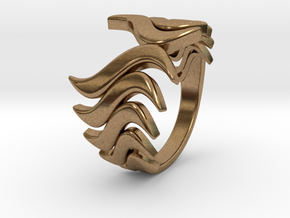 Fashion Fire Ring 1008 in Natural Brass
