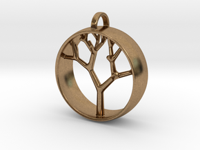 Natural Collection - Tree Pendant in Natural Brass