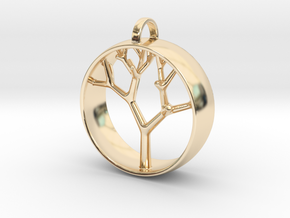 Natural Collection - Tree Pendant in 14k Gold Plated Brass