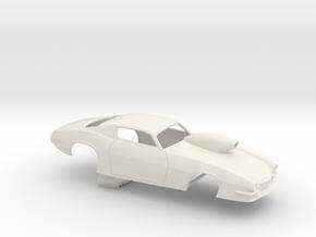 1/12 Pro Mod 73 Camaro Flat Hood W Scoop in White Natural Versatile Plastic