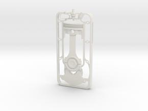 PistonCase in White Natural Versatile Plastic