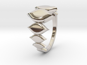 Fashion Fire Ring 1009 in Rhodium Plated Brass