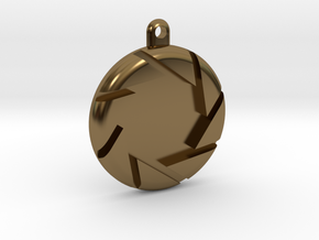Aperture Pendant in Polished Bronze