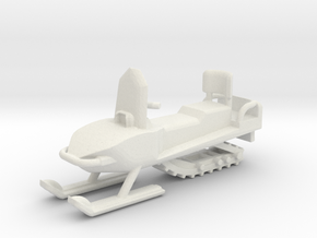 Snowmobile 1-87 HO Scale in White Natural Versatile Plastic