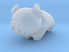 Cute Piggy in Smooth Fine Detail Plastic