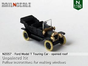 Ford Model T - opened roof (N 1:160) in Frosted Ultra Detail