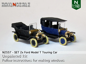 SET 2x Ford Model T (N 1:160) in Frosted Ultra Detail