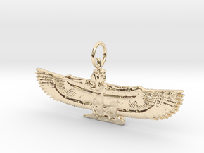 Maat Pendant in 14k Gold Plated Brass