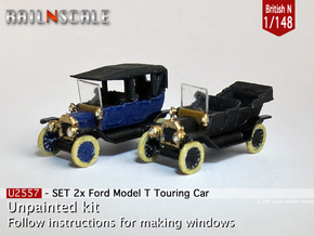 SET 2x Ford Model T (British N 1:148) in Frosted Ultra Detail
