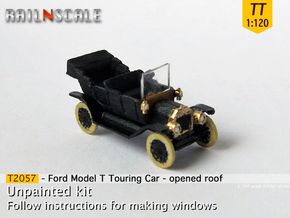 Ford Model T - opened roof (TT 1:120) in Smooth Fine Detail Plastic