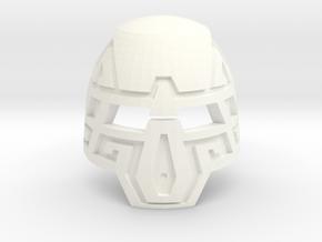 Kanohi Arata - Mask of Durability in White Processed Versatile Plastic