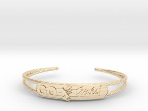 Go Girls Bracelet in 14k Gold Plated Brass