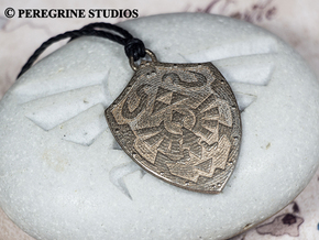 Pendant - Hylian Shield in Polished Bronzed Silver Steel