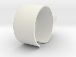 Runcam2Gimbal RollMount RCXver in White Strong & Flexible