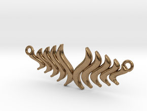 Fashion Fire Pendant1008 in Natural Brass