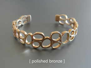 Rings and Things Bracelet in Polished Brass