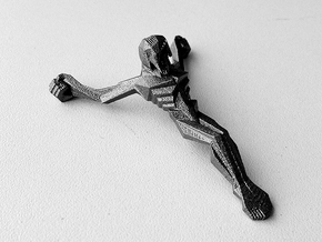 Personal Jesus in Polished Bronzed Silver Steel