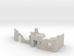 TT 1/120 street fighting / street ruins in Sandstone