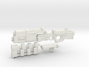 1/18th Scale Railgun Extended Sprue in White Natural Versatile Plastic
