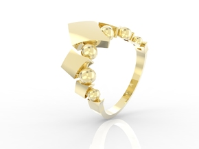 Fusion Ring in 14k Gold Plated Brass