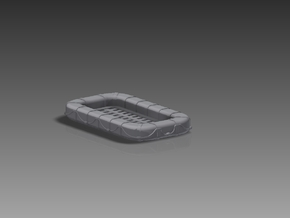 25 Man Rectangular Float 1/96 in Smooth Fine Detail Plastic