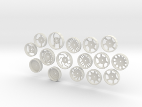 MiniFloppyBot-WheelKit in White Natural Versatile Plastic