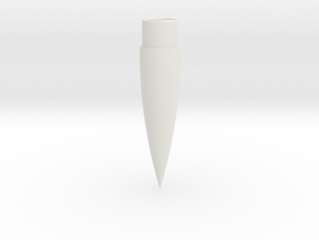 Rocket Vision MachBuster Compatible Ogive Nosecone in White Natural Versatile Plastic
