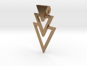 Pendant Triangles in Natural Brass