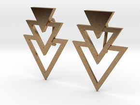 Earring Triangles in Natural Brass