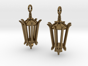 Wellesley Lamppost Earrings in Raw Bronze