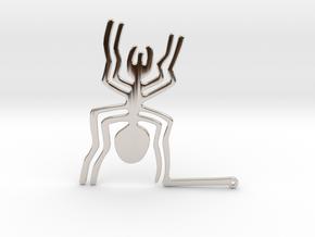Nazca: The Spider in Rhodium Plated Brass