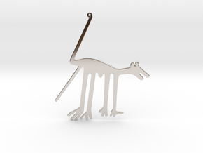 Nazca: The Dog in Rhodium Plated Brass