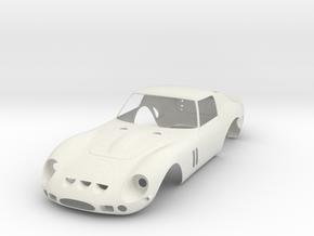 Ferrari 250 GTO body scale 1/8 in White Natural Versatile Plastic