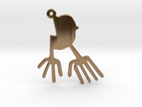 Nazca: The Bird in Natural Brass