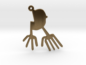 Nazca: The Bird in Raw Bronze