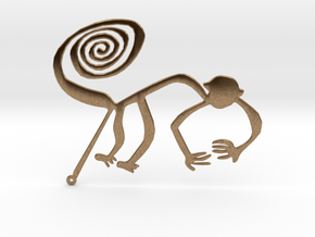 Nazca: The Monkey in Natural Brass