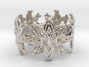 Ring 20.2mm in Rhodium Plated Brass
