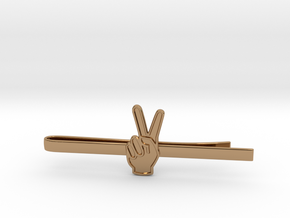 Peace Clip in Polished Brass