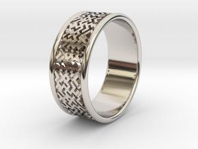 Wedding ring Slavic style in Rhodium Plated Brass: 5.5 / 50.25