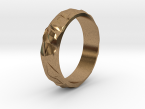 Ice silver ring in Natural Brass: 5 / 49