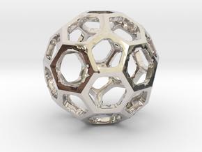 Truncated Icosahedron pendant in Platinum