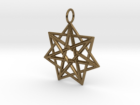 Doppelheptagramm in Natural Bronze
