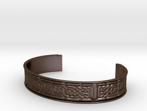 Celtic Ribbon Bracelet (13mm) in Polished Bronze Steel