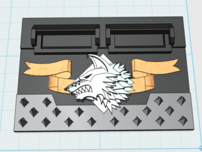 Shaggy Wolf : Standard APC Frontplate  in Smooth Fine Detail Plastic
