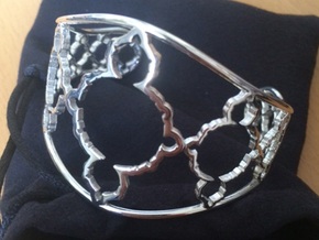 Mandelbrot Cuff in Polished Silver