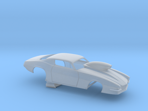 1/64 Pro Mod Camaro Cowl Hood W Scoop in Smoothest Fine Detail Plastic