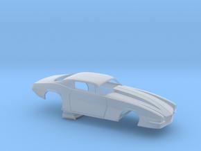 1/64 Pro Mod Camaro Cowl Hood in Smoothest Fine Detail Plastic